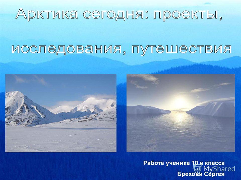 Работа ученика 10 а класса Брехова Сергея