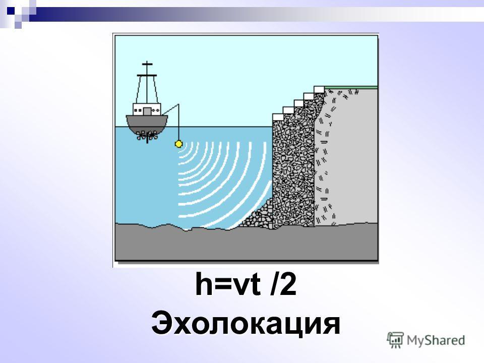 h=vt /2 Эхолокация