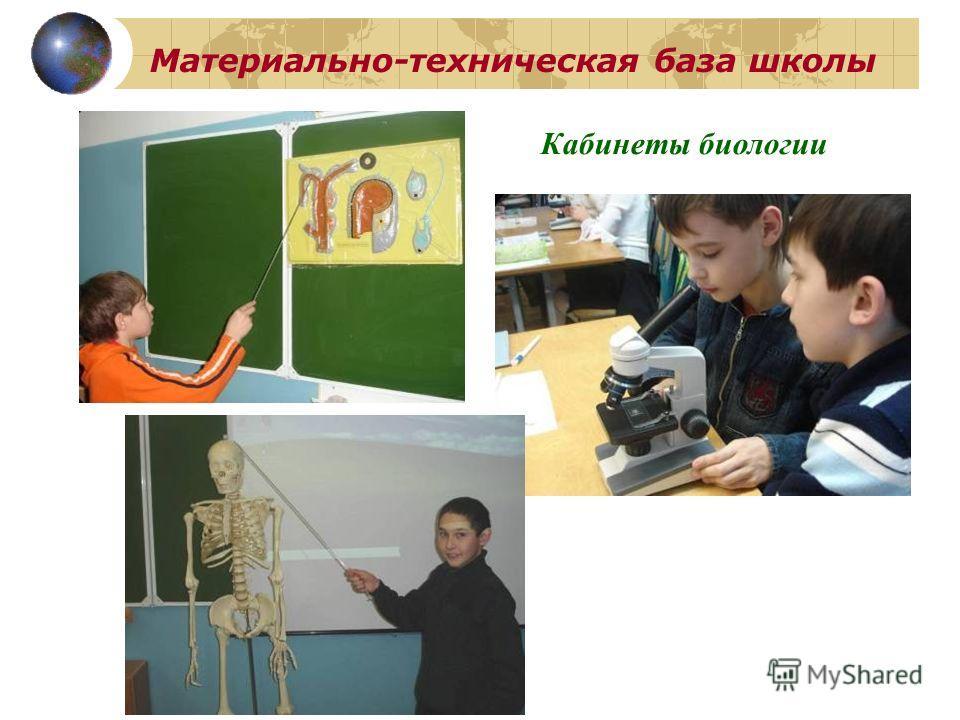 Материально-техническая база школы Кабинеты биологии