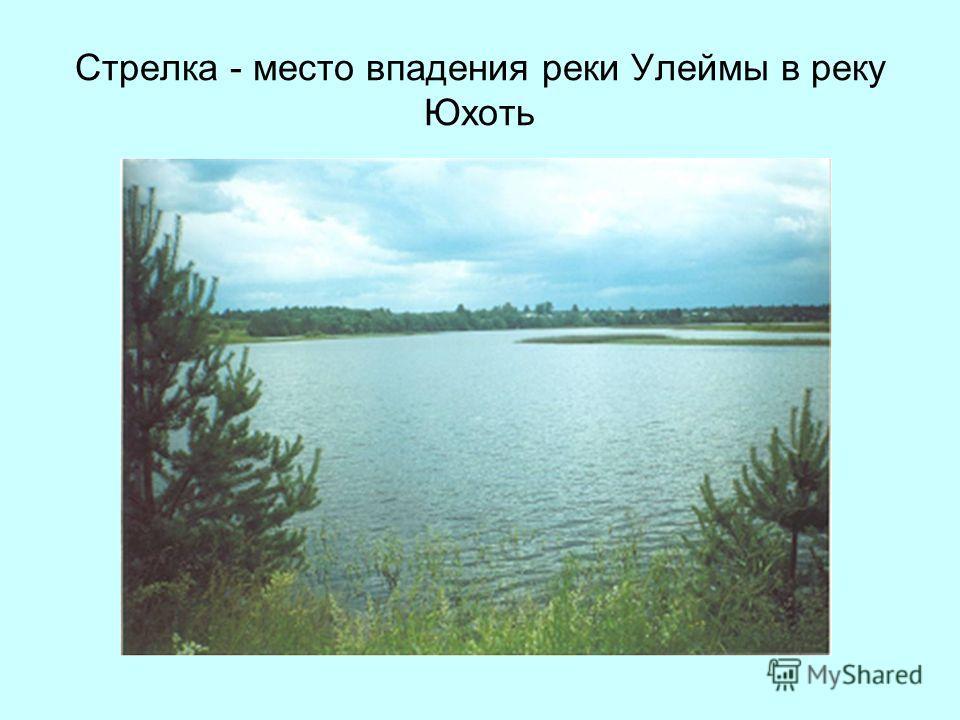 Стрелка - место впадения реки Улеймы в реку Юхоть