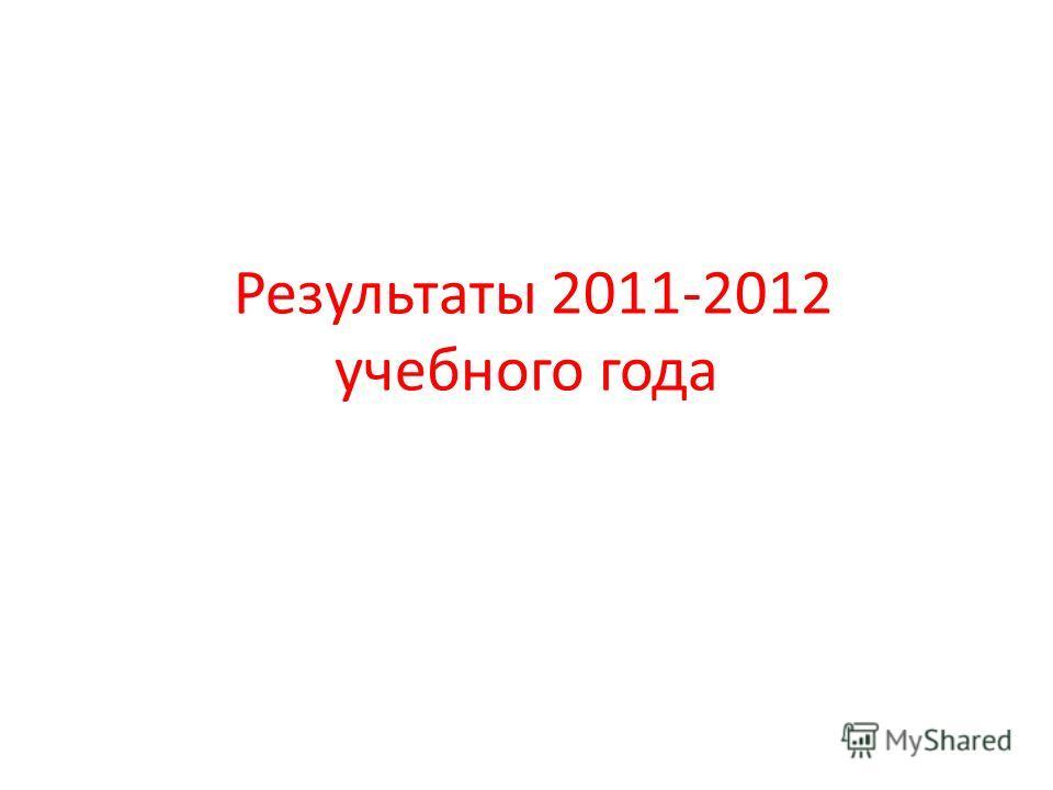 Результаты 2011-2012 учебного года