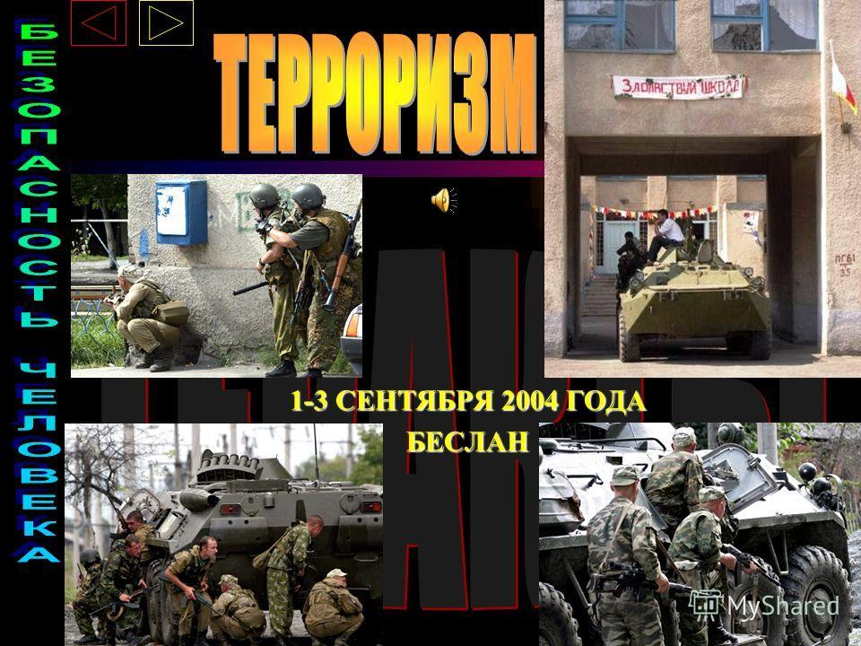 1-3 СЕНТЯБРЯ 2004 ГОДА БЕСЛАН