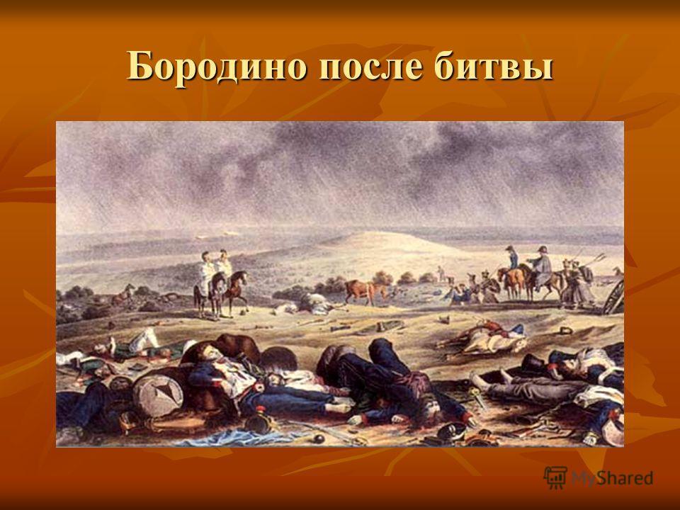 Бородино после битвы