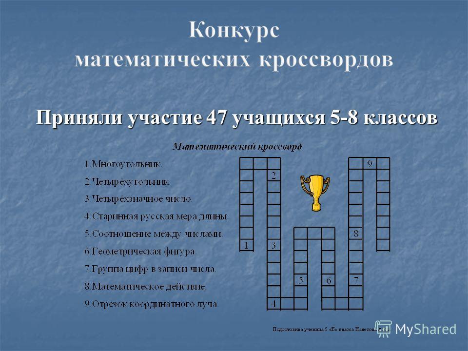 Приняли участие 47 учащихся 5-8 классов
