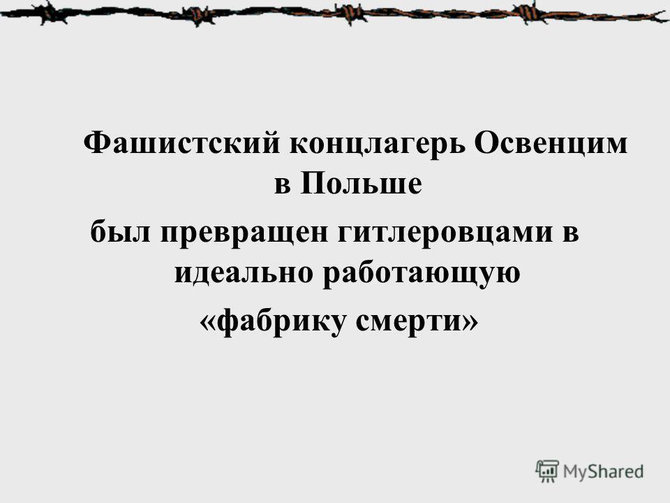 Фашистский концлагерь Освенцим в Польше был превращен гитлеровцами в идеально работающую «фабрику смерти»