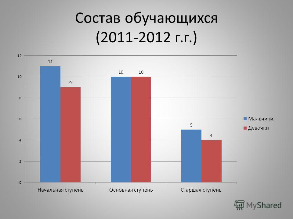 Состав обучающихся (2011-2012 г.г.)