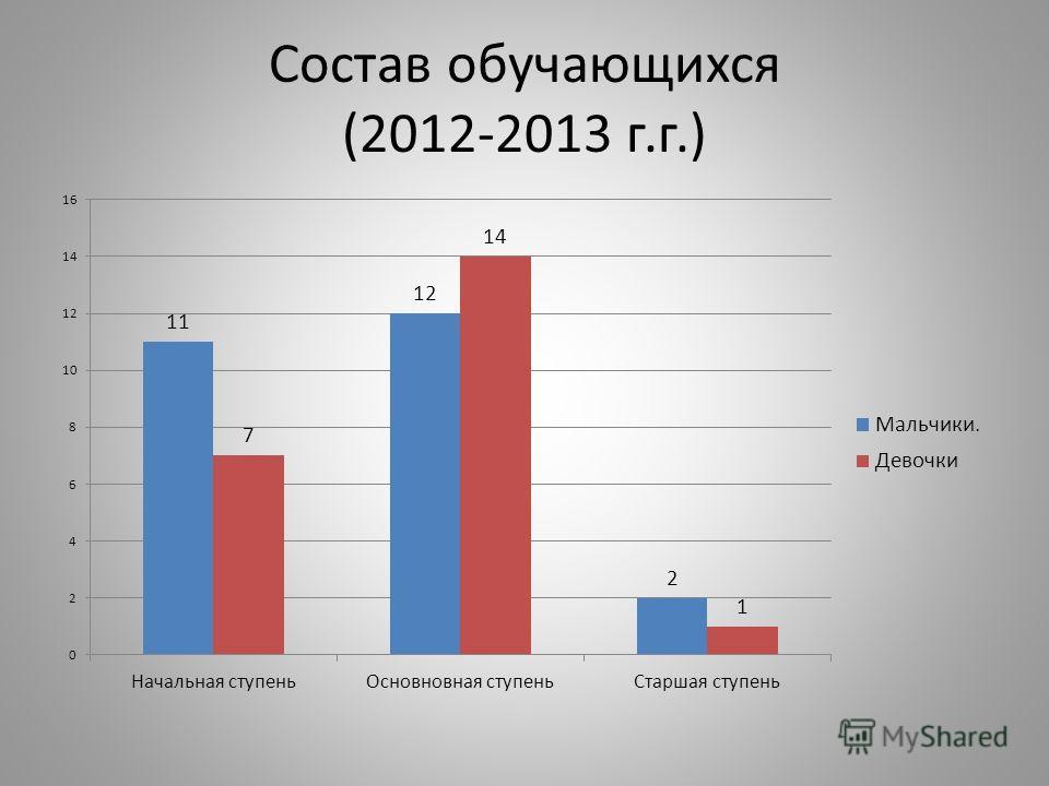 Состав обучающихся (2012-2013 г.г.)