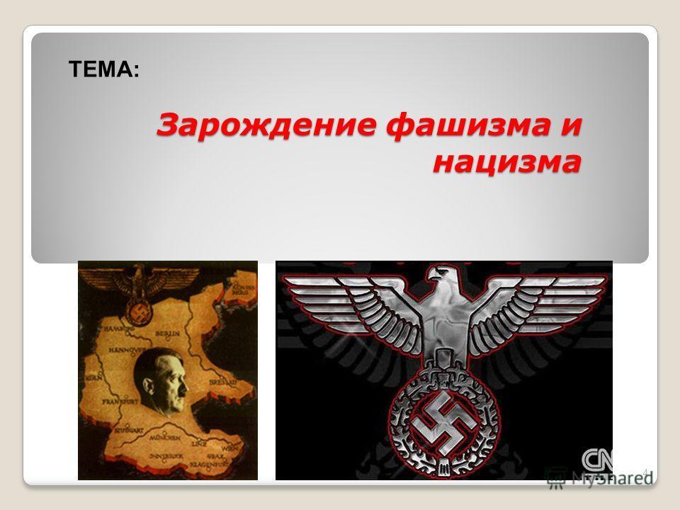Зарождение фашизма и нацизма 4 ТЕМА: