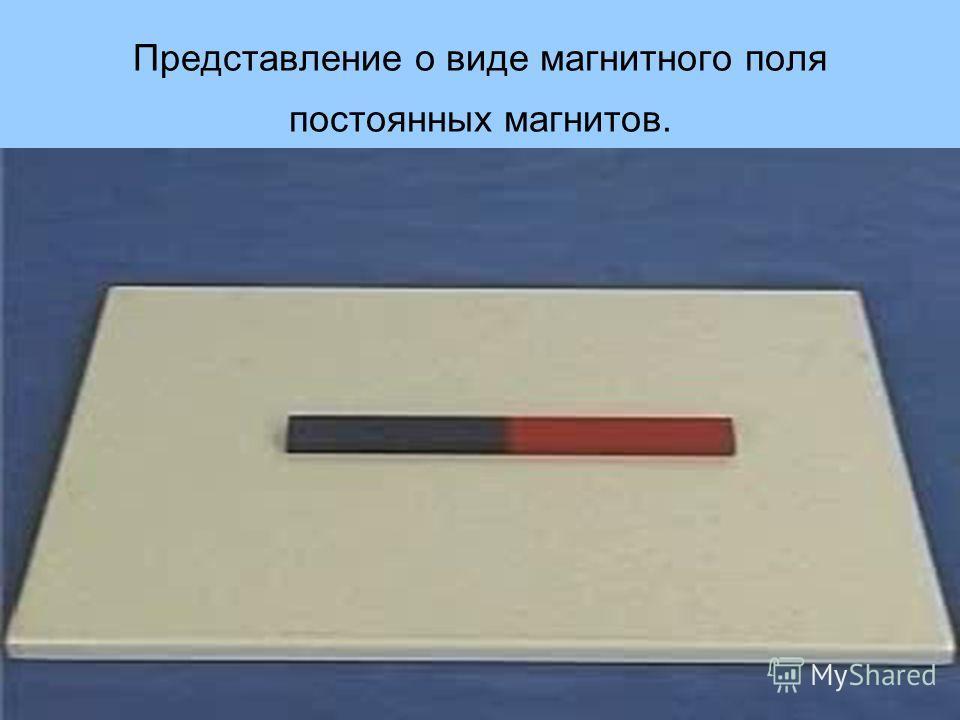 Представление о виде магнитного поля постоянных магнитов.