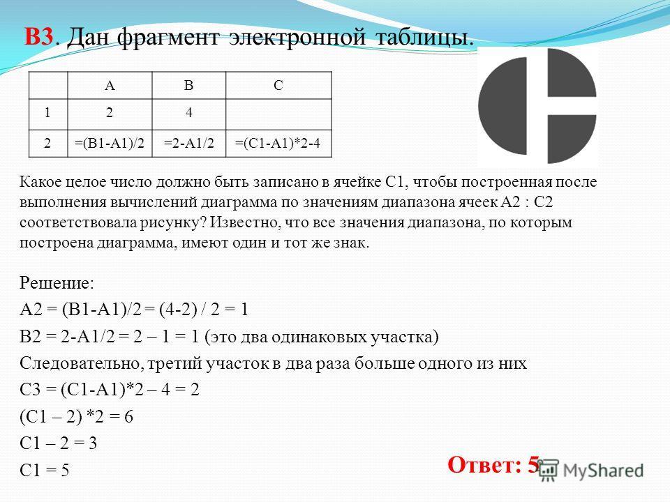 Решение: а = 30 b = 14 a = a – 2*b = 30 – 2 * 14 = 30 – 28 = 2 Условие a > b не выполняется, следовательно с = b – 2 * a = 14 – 2 * 2 = 14 – 4 = 10 Ответ: 10