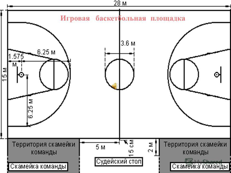 Игровая баскетбольная площадка