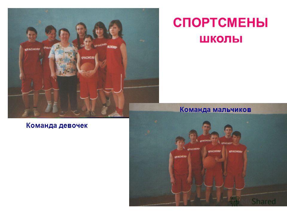 СПОРТСМЕНЫ школы Команда девочек Команда мальчиков