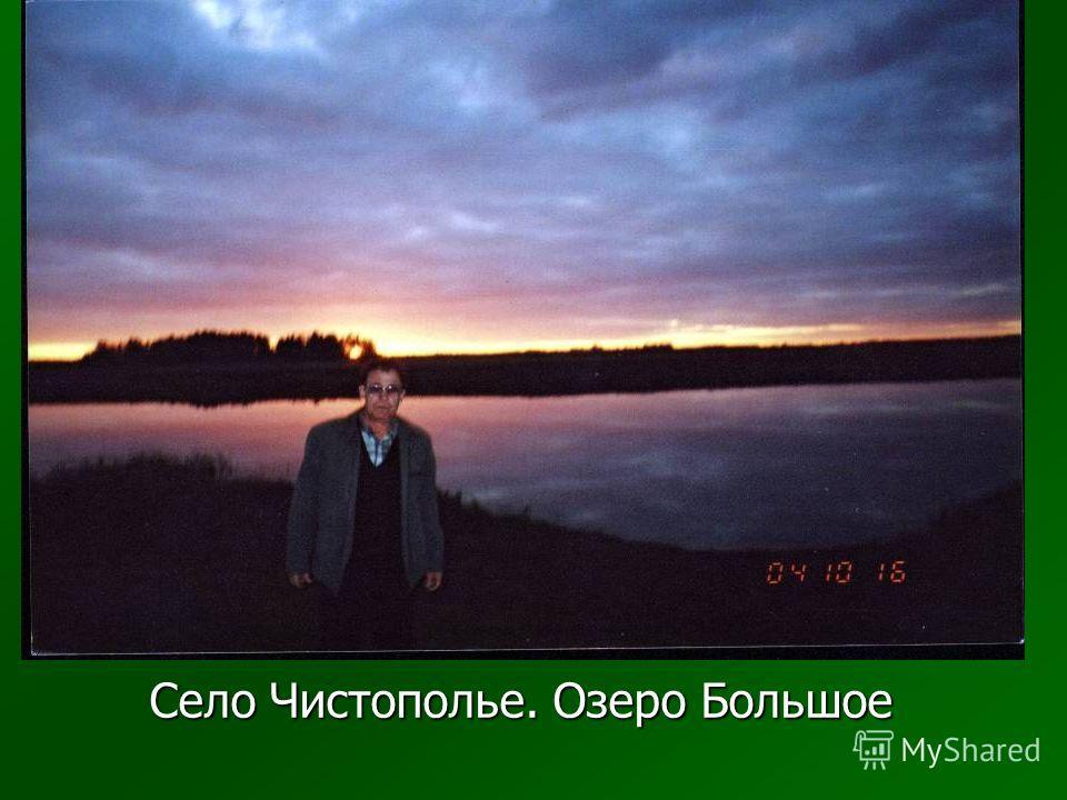 Село Чистополье. Озеро Большое