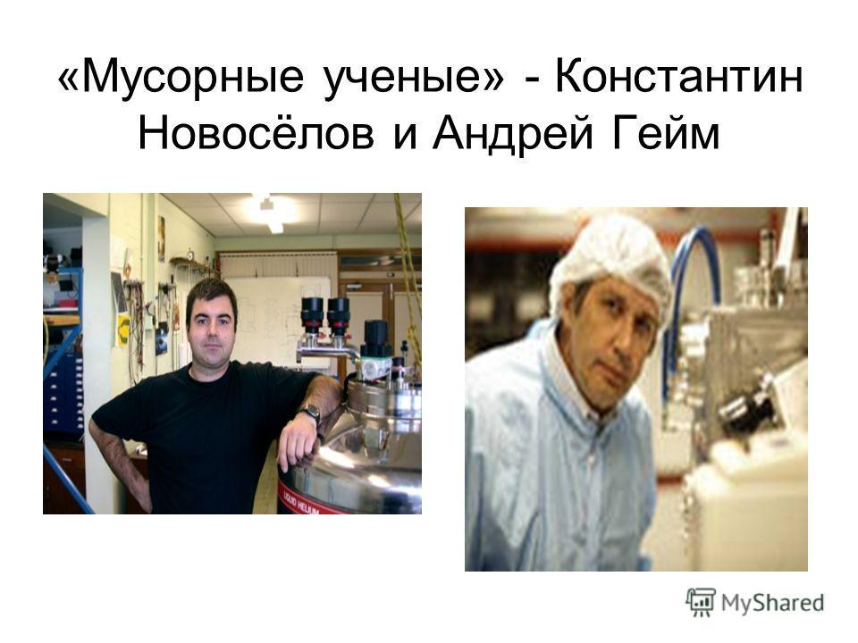 «Мусорные ученые» - Константин Новосёлов и Андрей Гейм