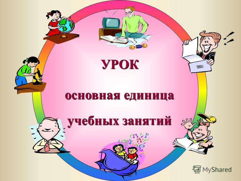 УРОК основная единица учебных занятий