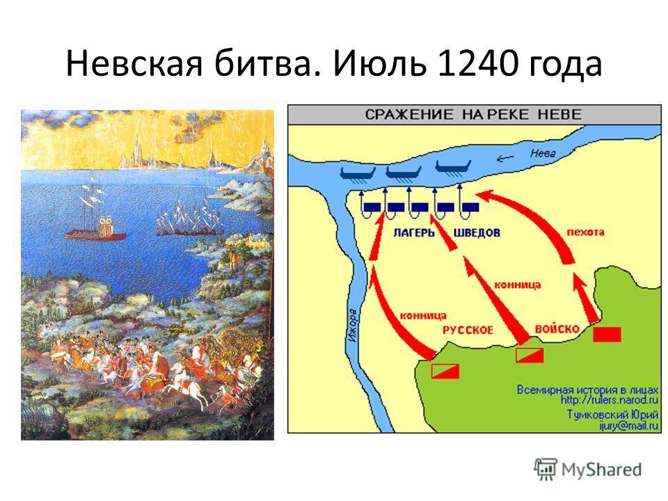 Невская битва. Июль 1240 года