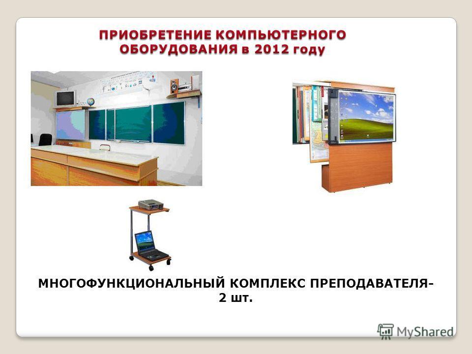МНОГОФУНКЦИОНАЛЬНЫЙ КОМПЛЕКС ПРЕПОДАВАТЕЛЯ- 2 шт.