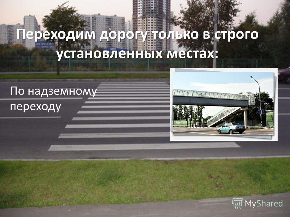 Переходим дорогу только в строго установленных местах: По надземному переходу