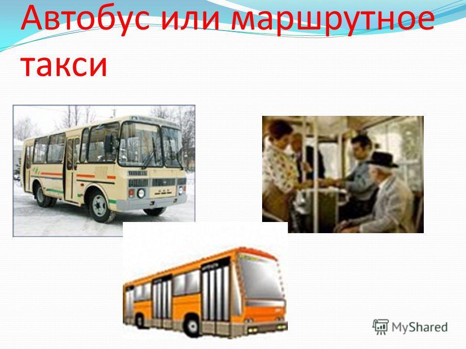 Автобус или маршрутное такси