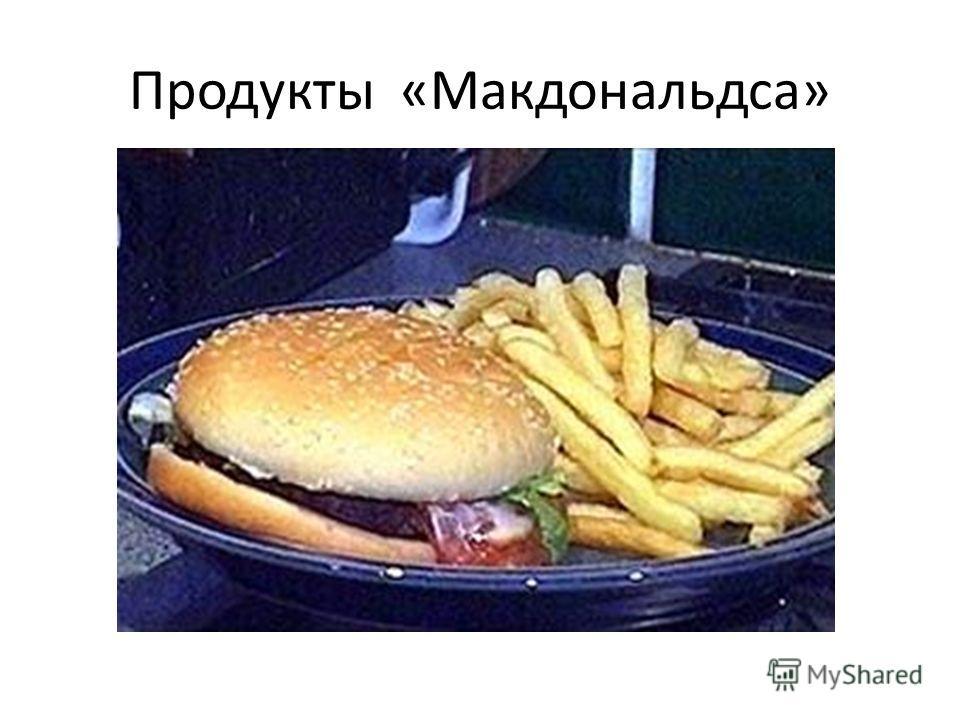 Продукты «Макдональдса»