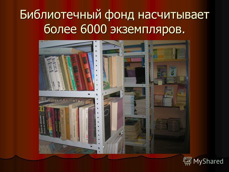 Библиотечный фонд насчитывает более 6000 экземпляров.