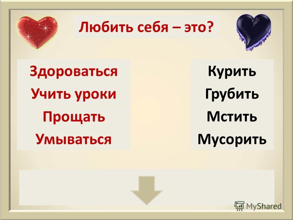 Что значит любить себя?