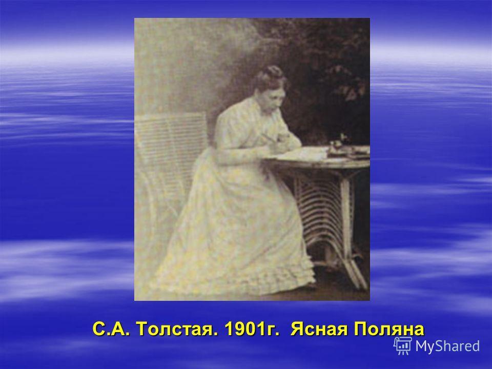 С.А. Толстая. 1901г. Ясная Поляна