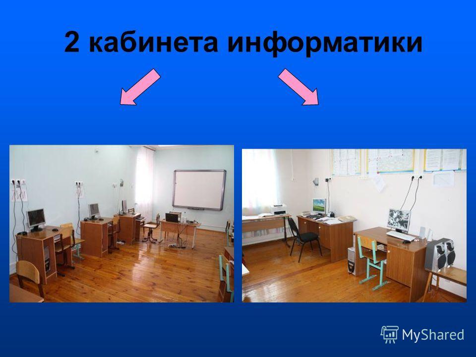 2 кабинета информатики