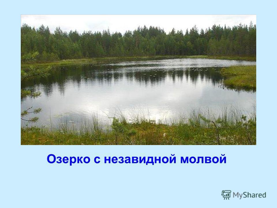 Озерко с незавидной молвой