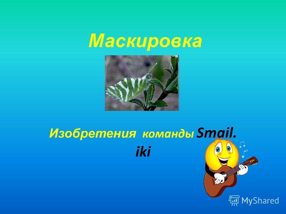 Маскировка Изобретения команды Smail. iki