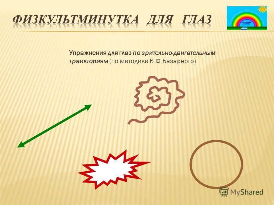 Упражнения для глаз по зрительно-двигательным траекториям (по методике В.Ф.Базарного)