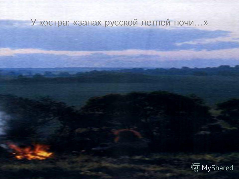 У костра: «запах русской летней ночи…»