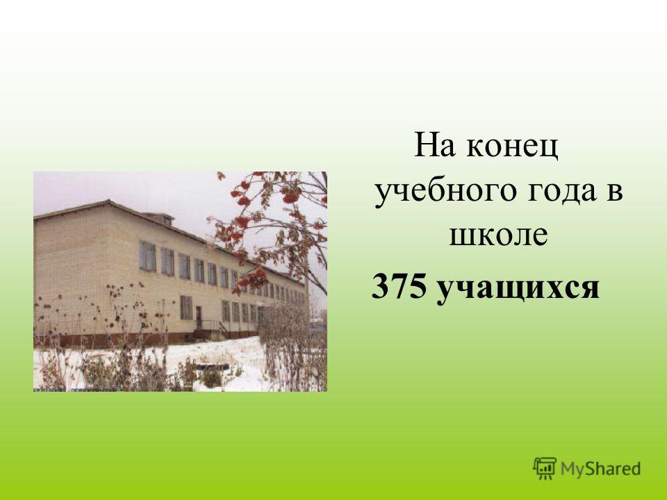 На конец учебного года в школе 375 учащихся