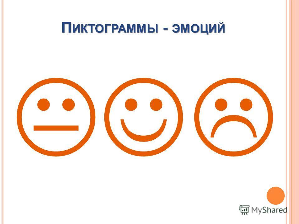 П ИКТОГРАММЫ - ЭМОЦИЙ