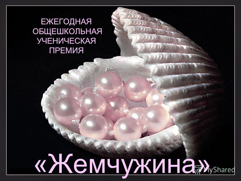 ЕЖЕГОДНАЯ ОБЩЕШКОЛЬНАЯ УЧЕНИЧЕСКАЯ ПРЕМИЯ «Жемчужина»