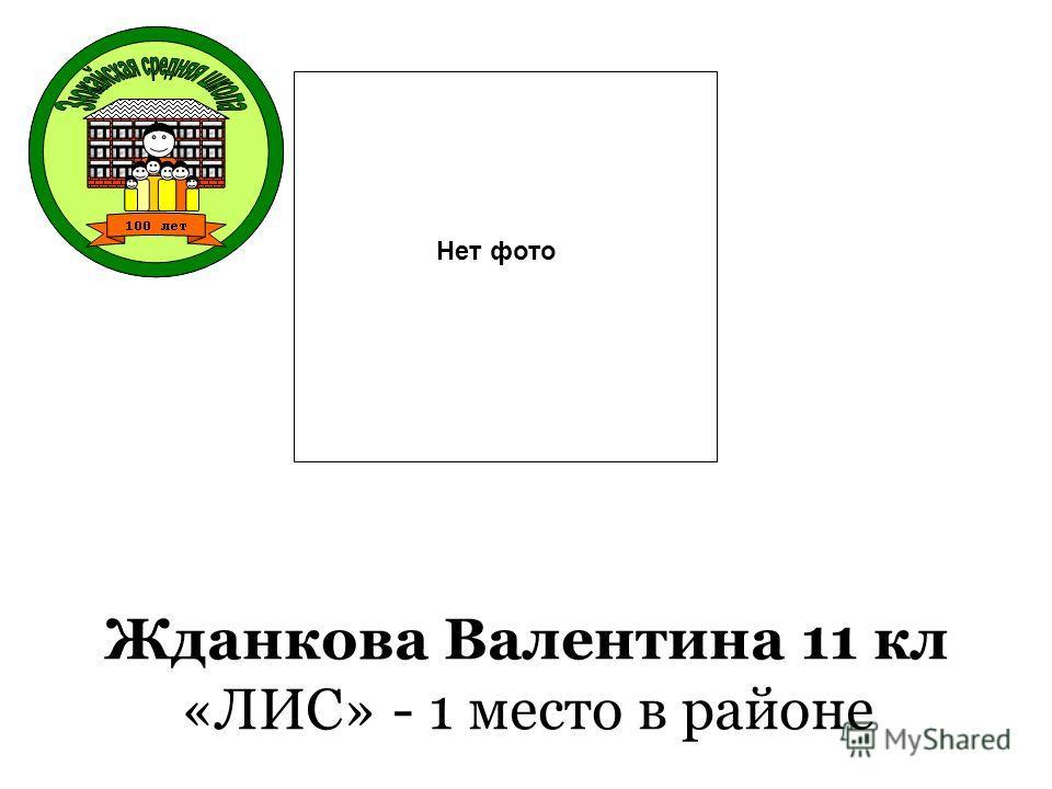 Жданкова Валентина 11 кл «ЛИС» - 1 место в районе Нет фото