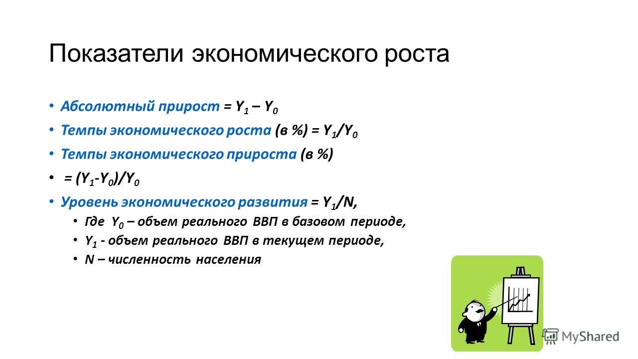 Презентация на тему ТЕМА ЭКОНОМИЧЕСКИЙ РОСТ Если рост  5 Показатели экономического