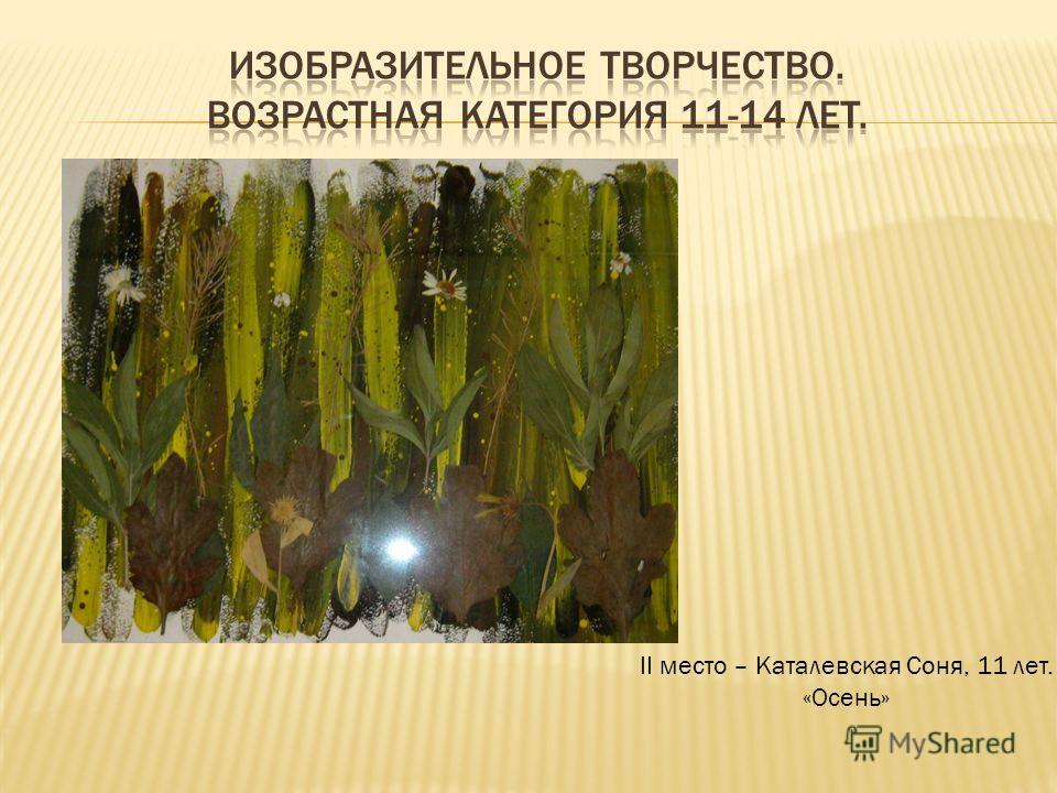 II место – Каталевская Соня, 11 лет. «Осень»