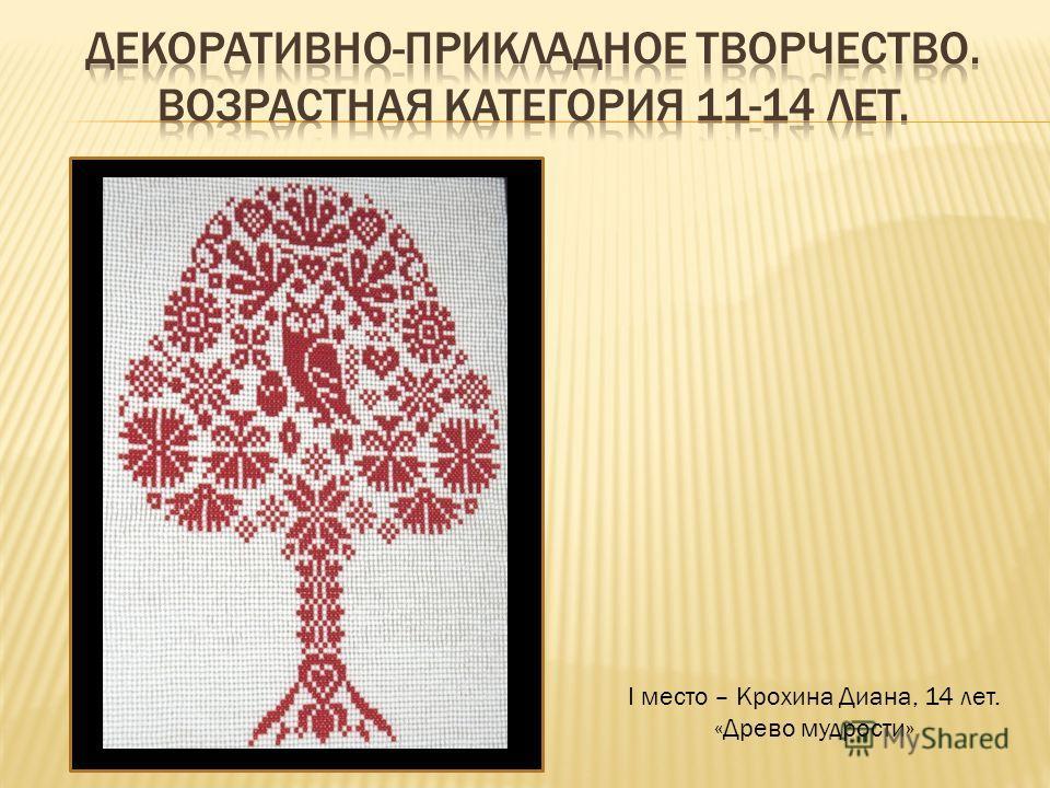 I место – Крохина Диана, 14 лет. «Древо мудрости»