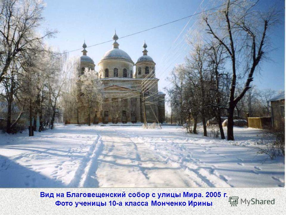 Вид на Благовещенский собор с улицы Мира. 2005 г. Фото ученицы 10-а класса Монченко Ирины