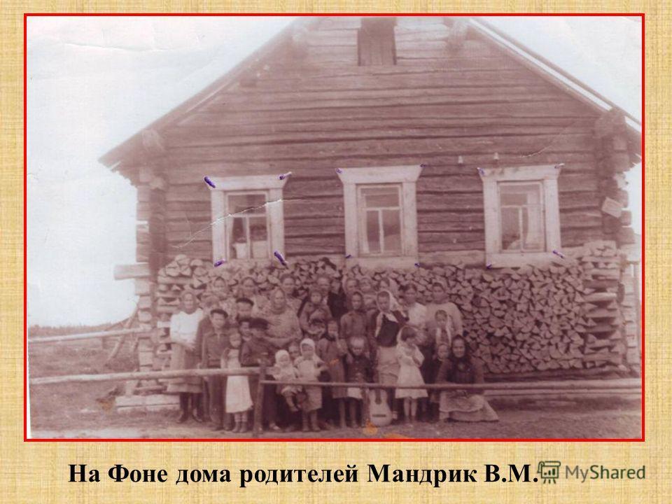 На Фоне дома родителей Мандрик В.М.