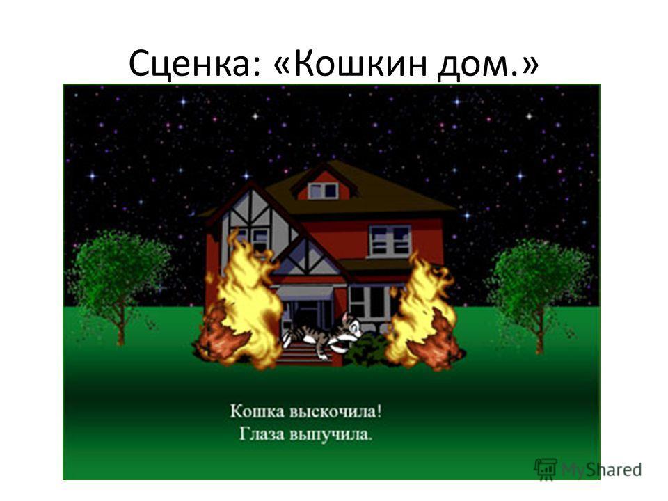 Сценка: «Кошкин дом.»