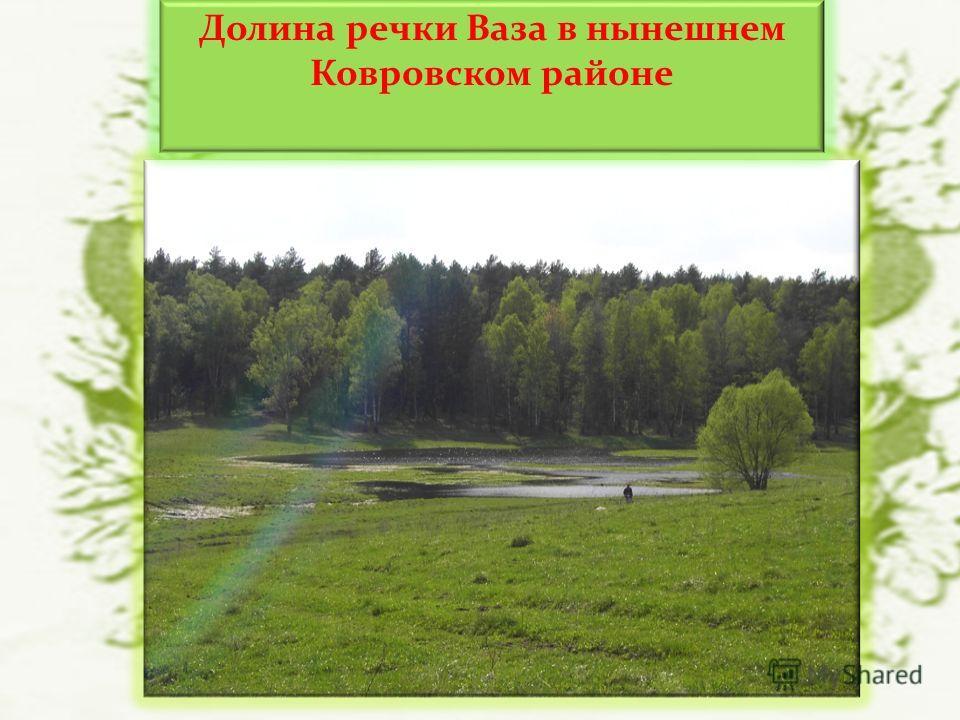 Долина речки Ваза в нынешнем Ковровском районе