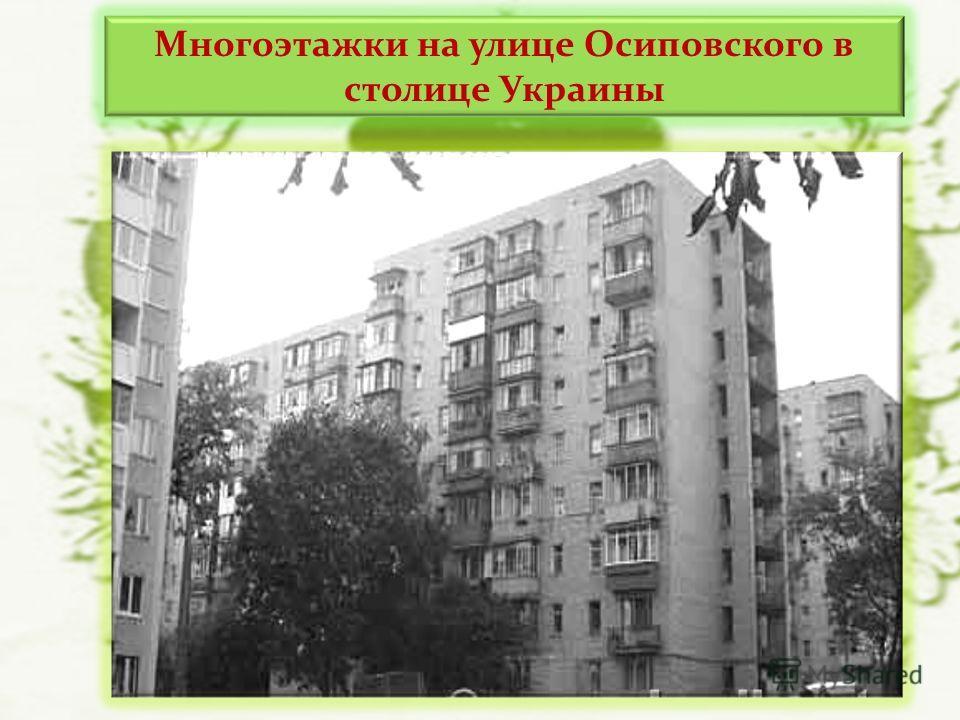 Многоэтажки на улице Осиповского в столице Украины