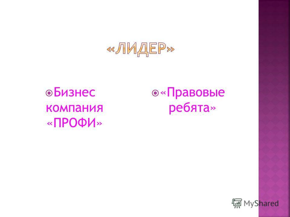 Бизнес компания «ПРОФИ» «Правовые ребята»