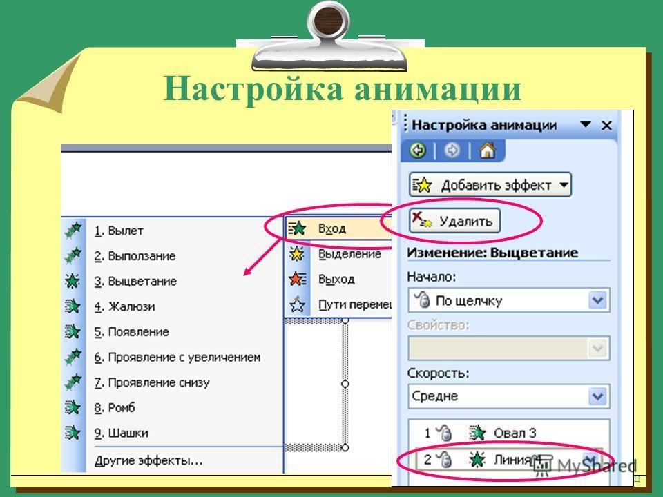 Яценко Т.В. методист ММЦ Настройка анимации - 2