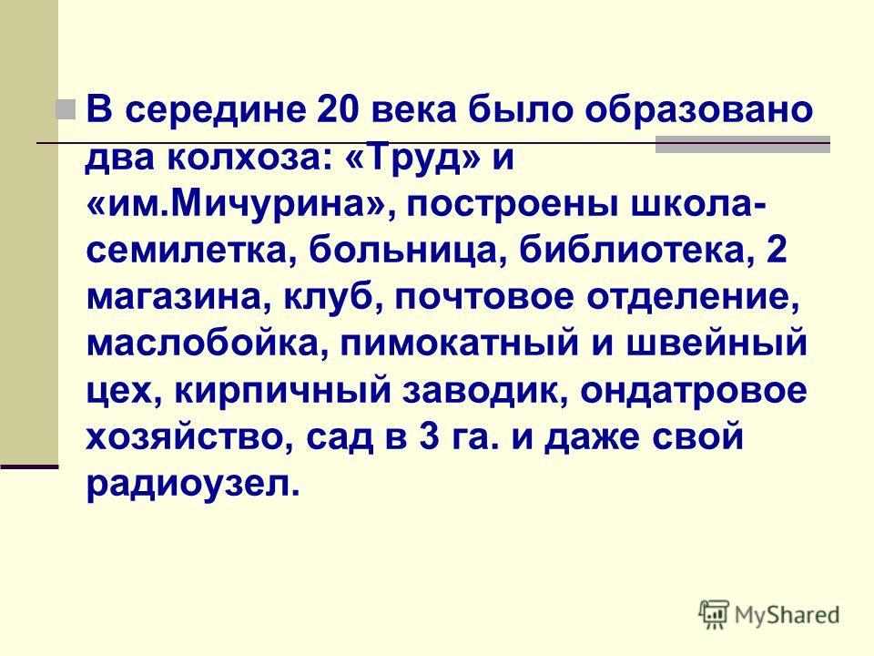 Первые фамилии в наших краях: Храмцовы, Горбуновы, Кокшаровы, Поповы, Курбатовы, Комельковы, Чигинцевы, это были переселенцы из центральной России.