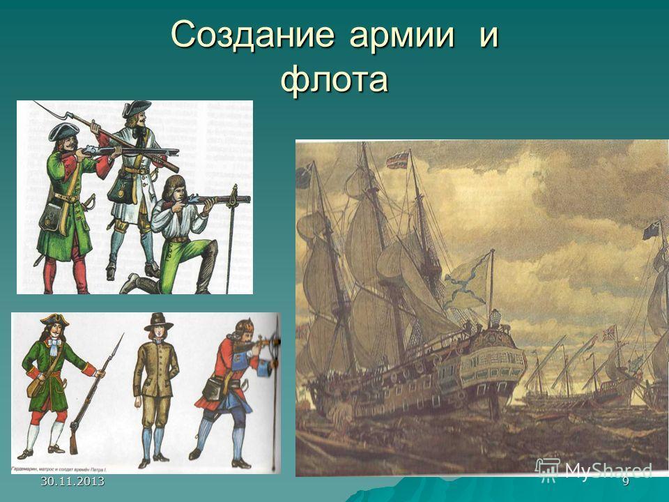 30.11.20139 Создание армии и флота