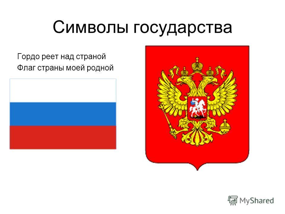 Символы государства Гордо реет над страной Флаг страны моей родной