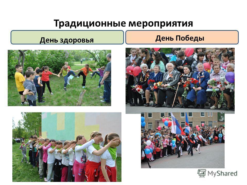 Традиционные мероприятия День здоровья День Победы